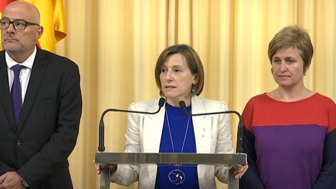 "Forcadell: ""No acceptarem la censura ni ens autocensurarem"""