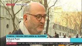 """Eduard Pujol: """"Estem prudentment confiats que la jornada anirà bé. Però la situació no és gens agradable"""""""