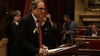 Quim Torra, candidat a la presidència de la Generalitat al debat d'investidura