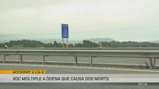 Dos morts en un accident a l'A-2 a Òdena
