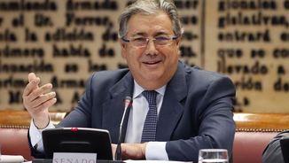 El ministre Juan Ignacio Zoido, aquest dijous, en la compareixença al Senat per l'1-O (EFE)