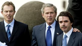 Cimera de les Açores, el 16 de març del 2003, on Blair, Bush i Aznar van llançar conjuntament un ultimàtum de 24 hores a Saddam Hussein