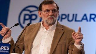 El president del govern espanyol, Mariano Rajoy, en un acte a Palma