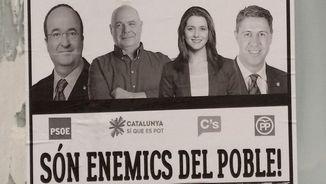 Fotografia del cartell investigat per la Fiscalia de Lleida