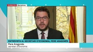 """Pere Aragonès: """"El govern espanyol dona missatges per generar incertesa a Catalunya"""""""
