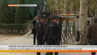 Presó incondicional per al govern Puigdemont