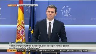 """Albert Rivera (Cs): """"El desafiament separatista és el repte més gran per a Espanya dels últims 30 anys"""""""