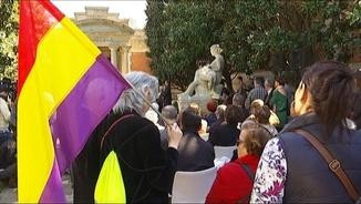 L'acte d'homenatge s'ha fet al pati de la biblioteca del Parlament