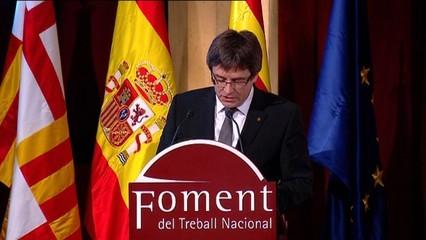 Puigdemont critica l'Estat per no fer els deures amb Catalunya davant del rei