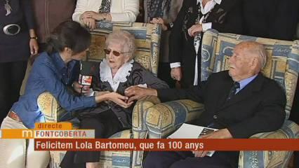 Felicitem la Lola Bartomeu que fa 100 anys