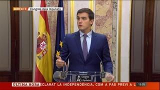 Albert Rivera dona per activat l'article 155 després de la compareixença de Rajoy