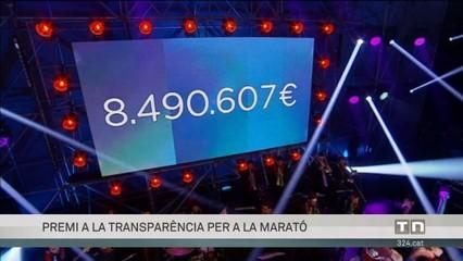 Premi a la comunicació en transparència de la Fundació La Marató de TV3<br />