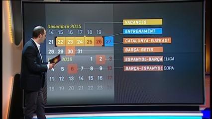 El calendari dels blaugranes