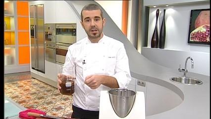 Sopa de moniato i fetge gras