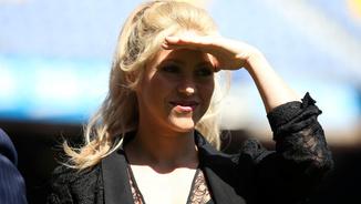 Shakira en un acte benèfic al Camp Nou (Reuters)