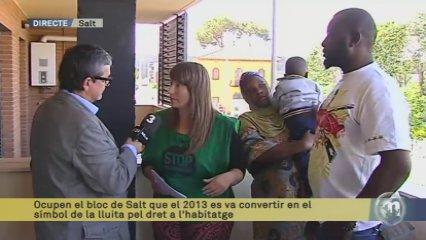 Ocupen el bloc de Salt que el 2013 es va convertir en el símbol de la lluita pel dret a l'habitatge