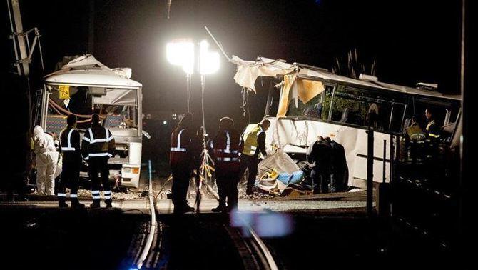 Cinc persones mortes en l'accident en un pas a nivell prop de Perpinyà