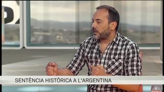 M. E. Mozé, membre d'Hijos, valora la condemna de dos militars de la dictadura argentina