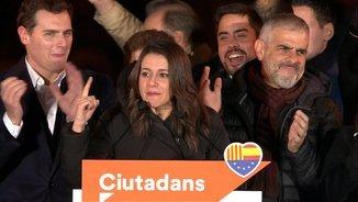 """Inés Arrimadas: """"Per primera vegada a Catalunya ha guanyat un partit constitucionalista"""""""