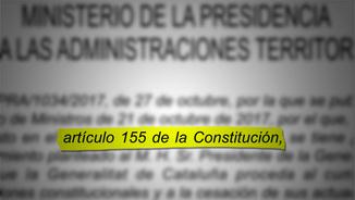 L'ARTICLE 155 DE LA CONSTITUCIÓ ESPANYOLA