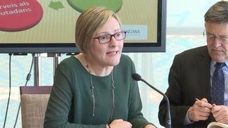 La consellera d'Habitatge i Obres Públiques, María José Salvador, amb el president valencià, Ximo Puig