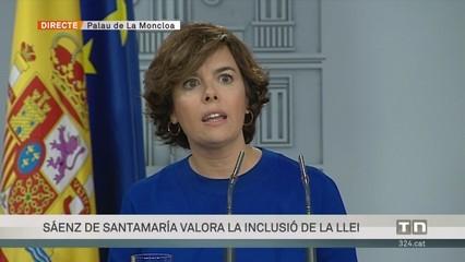 """Sáenz de Santamaría: """"Sota el mandat de Forcadell, ha mort la democràcia."""""""