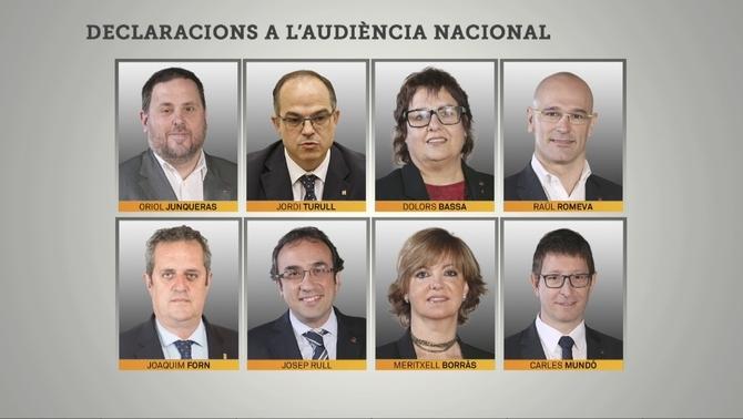 Els consellers empresonats van rebutjar la violència davant Lamela