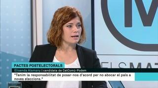 """Elisenda Alamany (CatComú-Podem): """"No podem abocar el país a unes noves eleccions"""""""