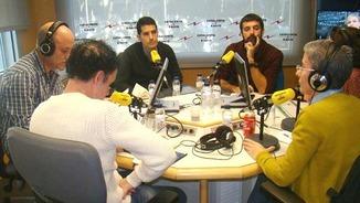 Xavi Freixes, Nacho Martín Blanco, Marta Lasalas, Francesc Canosa (esq. a dreta)