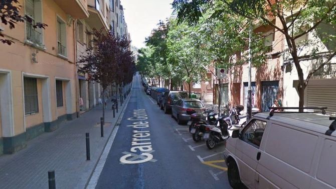 Captura de Google Street View del carrer de Gomis