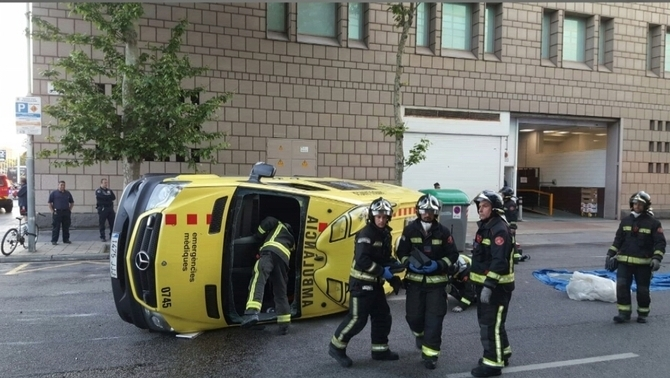 L'ambulància accidentada