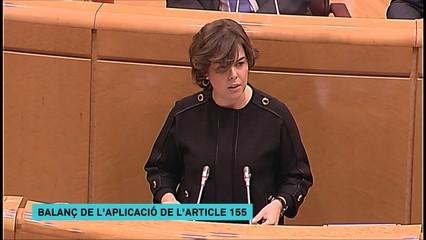 Resum de la intervenció de Soraya Sáenz de Santamaría al Senat en defensa de l'aplicació del 155