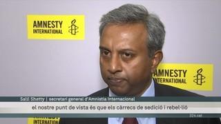 El secretari general d'Amnistia Internacional dona suport a les protestes pacífiques arran del referèndum