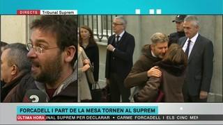 Més reaccions de representants polítics catalans en suport a Carme Forcadell i la resta de la mesa del Parlament