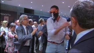 Moment de l'assalt al Centre Cultural Blanquerna, durant la celebració de la Diada l'any 2013
