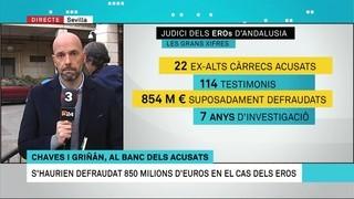 Connexió amb Sevilla pel cas dels EROs, que asseurà al banc dels acusats 22 ex-alts càrrecs socialistes de la Junta d'Andalusia