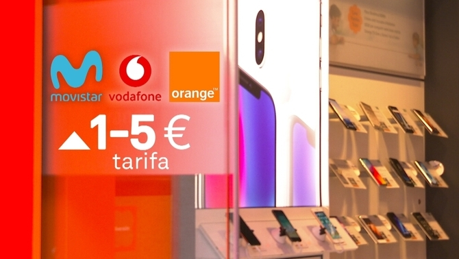 Movistar, Vodafone i Orange apujaran la factura de mòbil entre 1 i 5 euros