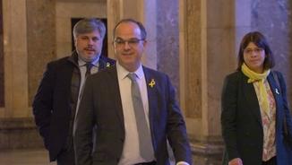 Jordi Turull arriba al Parlament