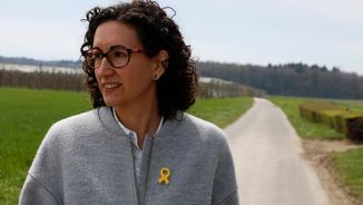 Marta Rovira durant l'entrevista a l'ACN