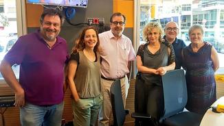 Salvador Cot, Neus Tomàs, Albert Sáez, Mònica Terribas, Jordi Barbeta i Milagros Pérez Oliva