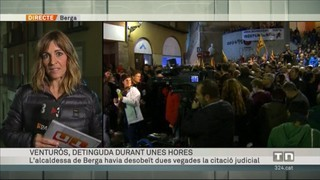 L'alcaldessa de Berga, detinguda durant unes hores