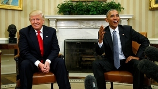 Trump i Obama, aquest dijous al Despatx Oval (Reuters)
