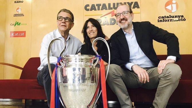 El Puyal, la Calvo i el Bassas, el trident de Catalunya Ràdio a Wembley