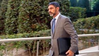 El major dels Mossos d'Esquadra, Josep Lluís Trapero, aquest dilluns sortint de l'Audiència Nacional (ACN)