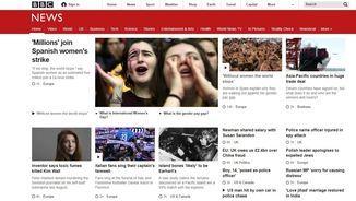 La BBC ha obert tota la tarda amb la mobilització del 8M a Espanya