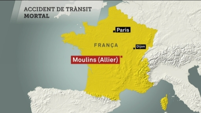 L'accident ha estat al departament de l'Allier, al centre de França
