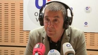 Arnaldo Otegi als estudis d'Onda Vasca, a Bilbao