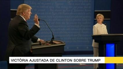 Titulars del 21/10/16: Victòria ajustada de Clinton sobre Trump