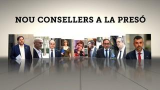 Nou consellers del govern Puigdemont, a la presó