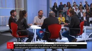 Taula política amb Rufián, Torra, Salellas i Asens